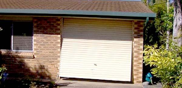 Crooked garage door