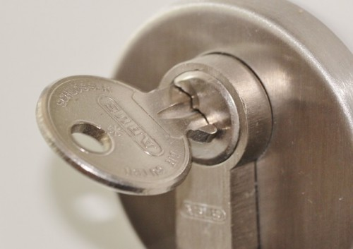 key in a lock
