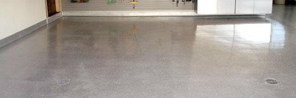 Sealed garage floor
