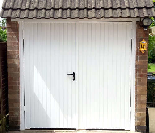 Side hinged garage doors by wessex garage doors Garage with doors on both sides