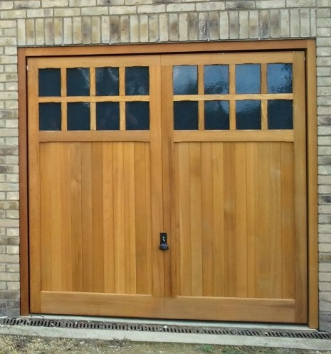 Traditional wooden garage doors