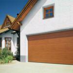 Sectional Garage Door - double timber door shown closed