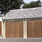Wooden garage door - gallery image