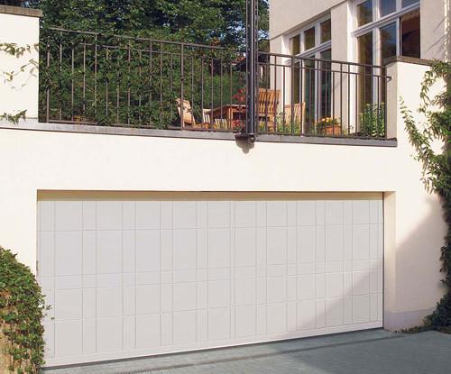 Steel garage door - gallery image