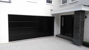 Black Novoferm Garage Door After Fitting