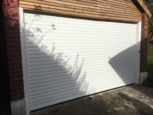 Novoroll 77 White garage door after installation