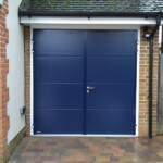 Blue Steel Garage Door
