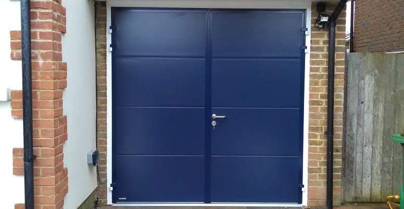 Blue Steel Garage Door