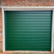 Alluguard 77 Rollershutter in Fir Green complete with radio remote controls and two hand transmitters
