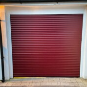 Alluguard compact rollershutter garage door burgundy red