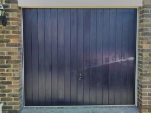 Blue Verwood garage door