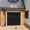 CDC Chertsey Ebony Up and Over Garage Door with Electric Operator