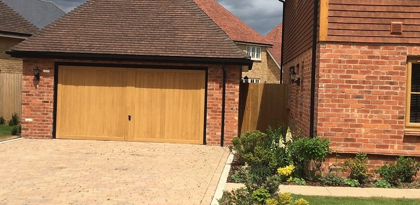 Millwood Oak Double Up and Over Garage