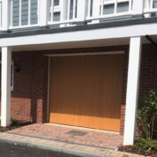CDC Verwood in Honey Beech Automated Garage Door
