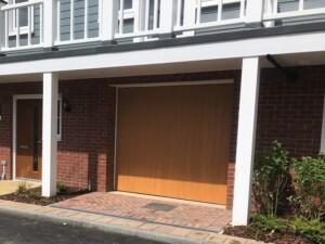The Verwood garage door in Honey Beech