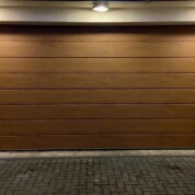 Carteck GSW40 Insulated Large Ribbed Golden Oak Automated Sectional Garage Door