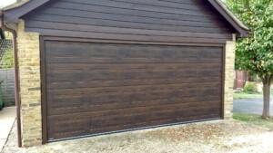 Garage with Carteck sectional door