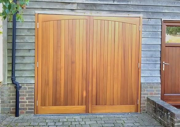 Cedar Door Haddon Side Hung Automated Golden Oak Garage Door