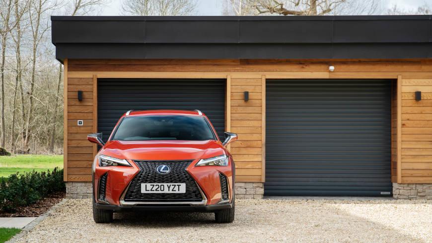 Electric car garage door blog post image