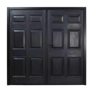 Black GRP Side Hinged Garage Door