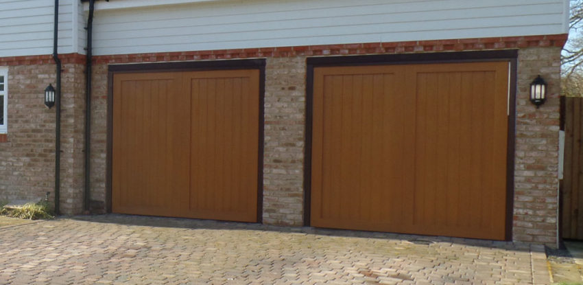 GRP Up and Over Garage Doors - twin garages