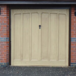GRP Up and Over Garage Door - single light timber door