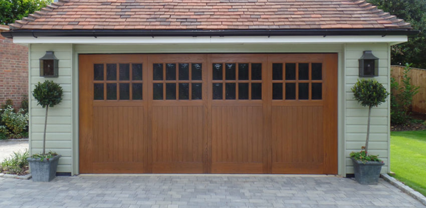 GRP Up and Over Garage Door - triple garage door