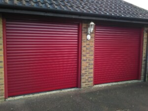 Thermaglide roller shutters in Burgundy