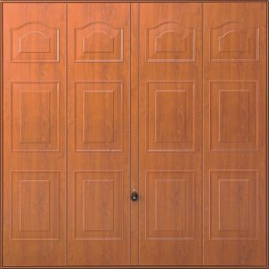 Marquess Decograin Golden Oak Steel Garage Door