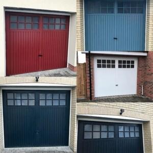 A selection of Novoferm Berwick Steel Garage Doors