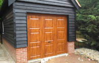Timber up and over garage door - single garage door with glass panels