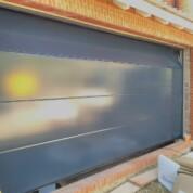 Novoferm Flush Sectional Garage Door Grey Blue
