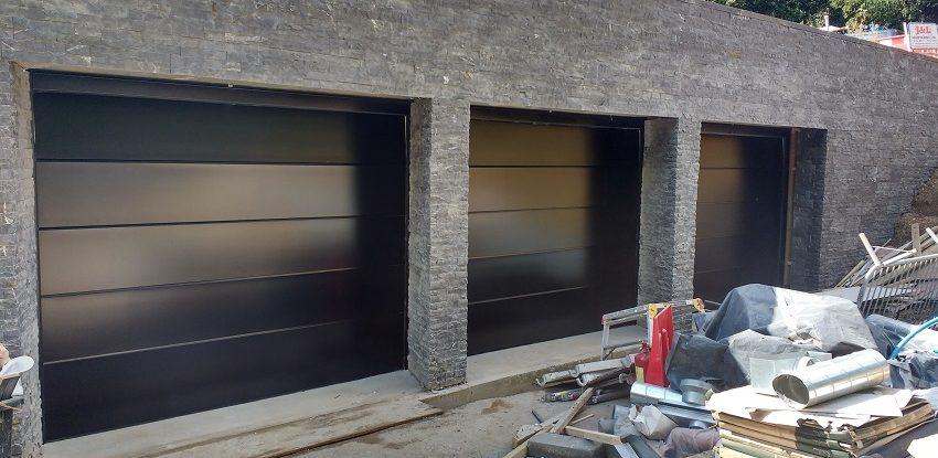 Novoferm Flush Smooth Black Garage Door