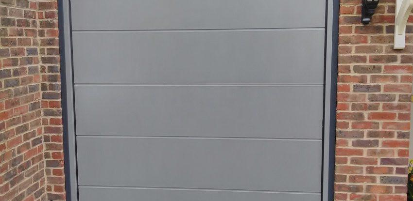 Novoferm Flush Smooth Grey Aluminium