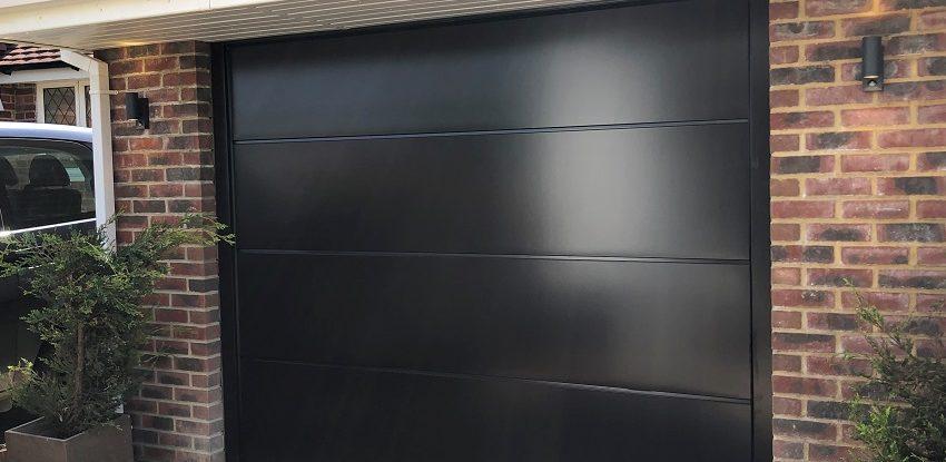 Novoferm Insulated Sectional Garage Door with Electric Operator