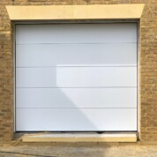 Novoferm Flush White Insulated Sectional Up and Over Garage Door