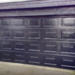Novoferm Sectional Panelled Black Garage Door