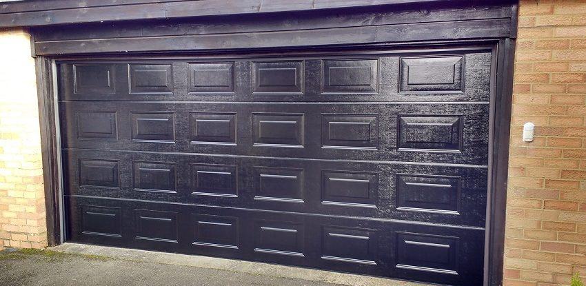 Novoferm Sectional Panelled Black Garage Door