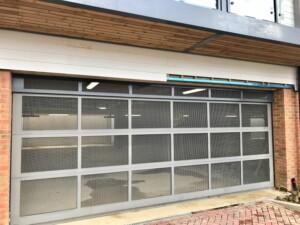 New garage door after installation