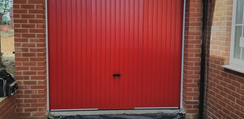 Novoferm Red Steel Up and Over Thornby Garage Door