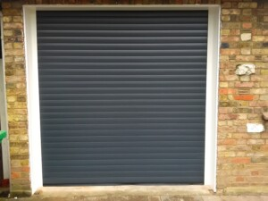 Newly installed Novoroll garage door with white surround