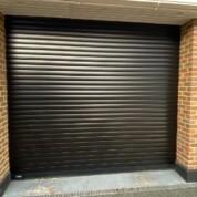 SWS Seceuroglide 77 Classic foam core aluminium roller garage door black b