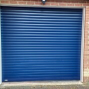 SWS Seceuroglide 77 Classic foam core aluminium roller garage door navy blue RAL 5011 a