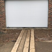 SWS Seceuroglide Excel white roller shutter garage door with electric operator