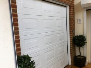 White Garage Door in the Showroom