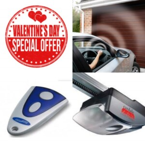 Valentine's Day offer for electric opening garage doors