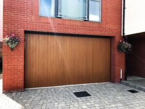 Honey Beech colour Verwood garage door