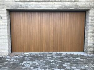 Verwood garage door in brown