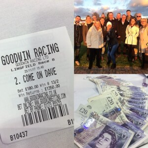 Team Outing to Lingfield Races with Lucky Ticket and Cash