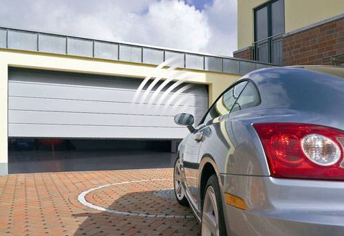 Automated garage door - car approaching automated door